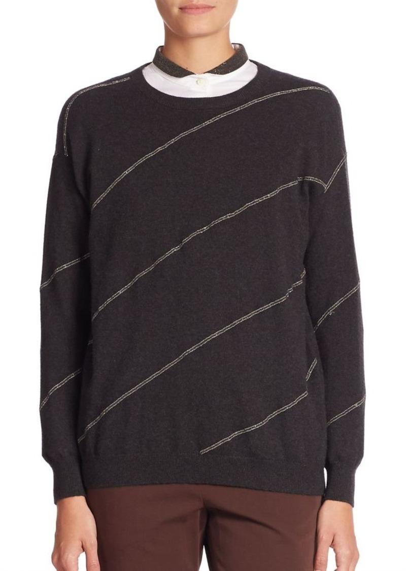 Brunello Cucinelli Striped Cashmere Sweater