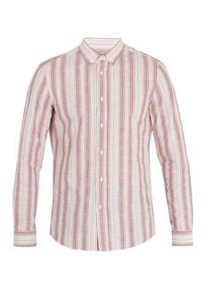 Brunello Cucinelli Striped cotton-blend shirt