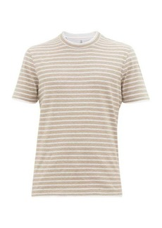 Brunello Cucinelli Striped cotton-jersey T-shirt