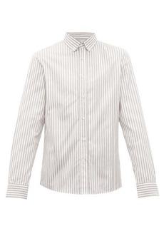Brunello Cucinelli Striped cotton-poplin shirt