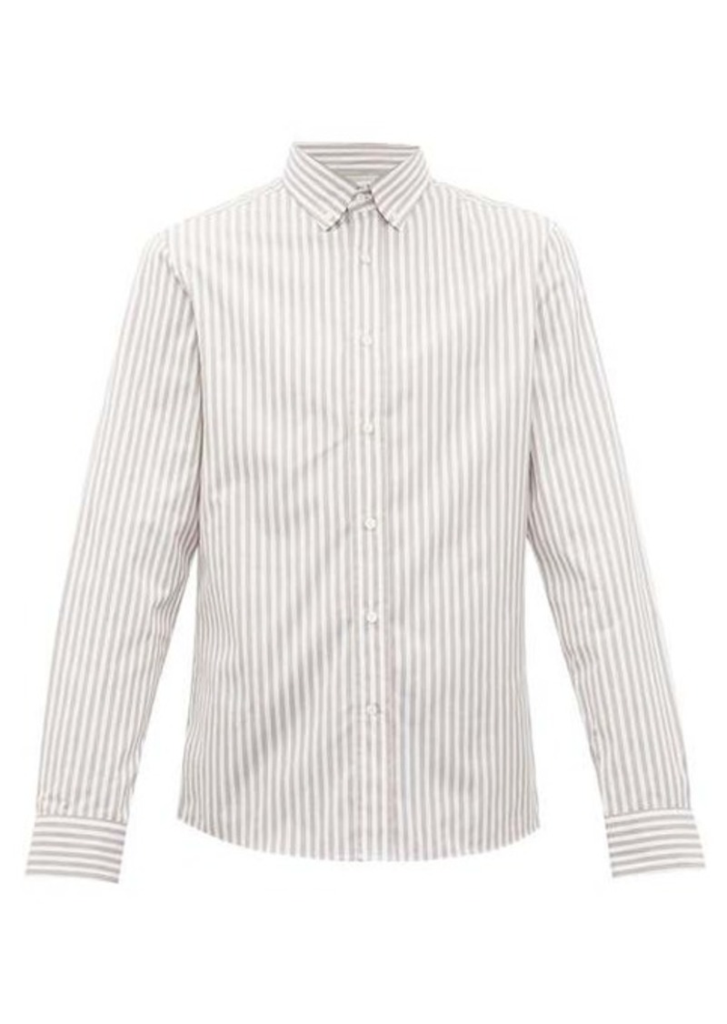 Brunello Cucinelli Striped cotton-poplin shirt