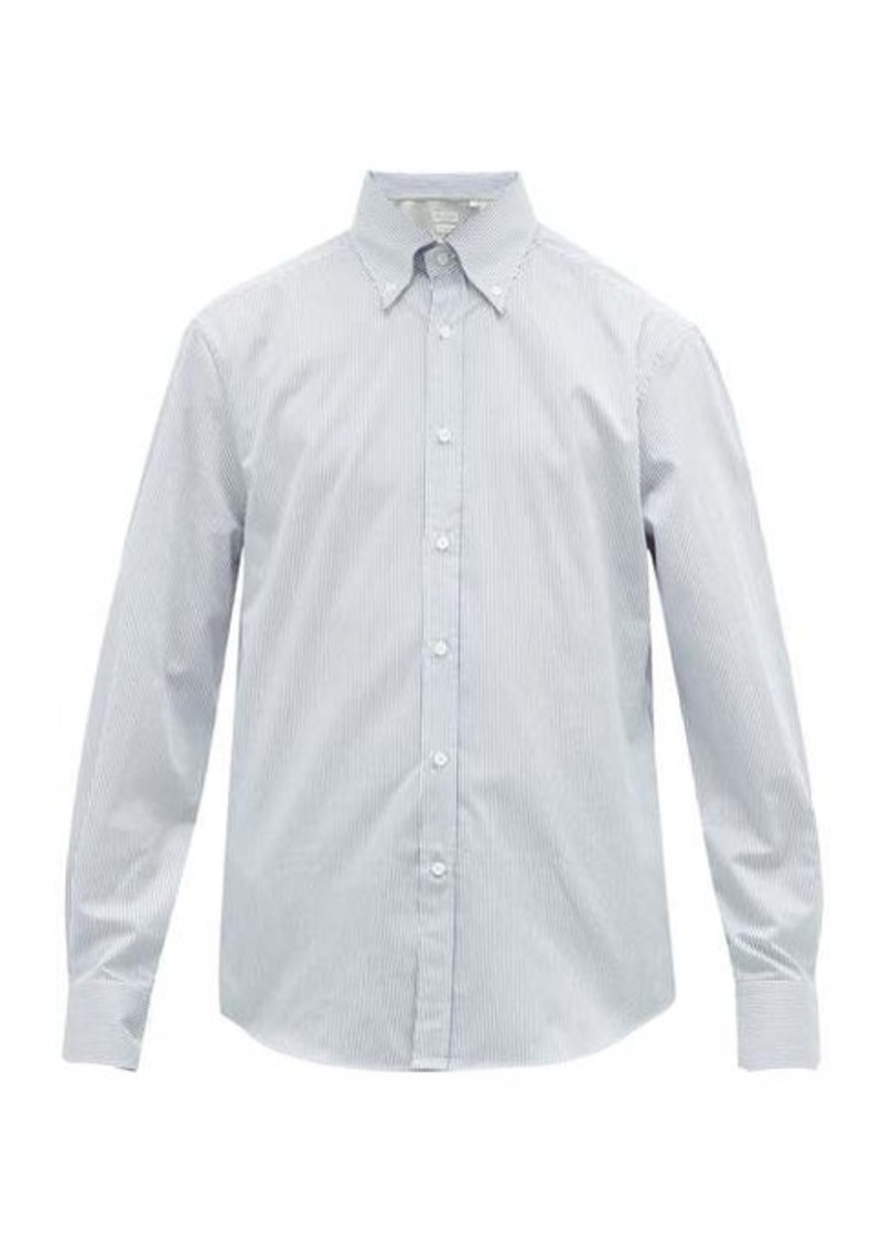 Brunello Cucinelli Striped cotton-twill oxford shirt