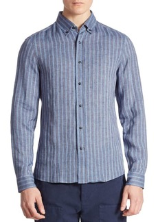 Brunello Cucinelli Striped Long Sleeves Shirt