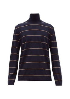 Brunello Cucinelli Striped wool-blend roll-neck sweater