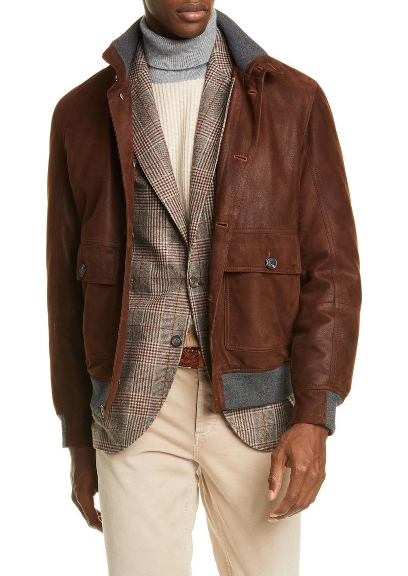 Brunello Cucinelli Suede Jacket
