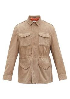 Brunello Cucinelli Suede-leather field jacket