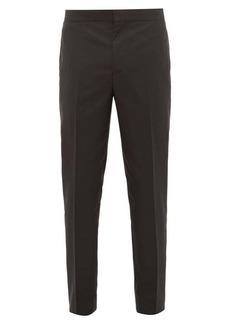 Brunello Cucinelli Tailored cotton & silk-blend twill tuxedo trousers