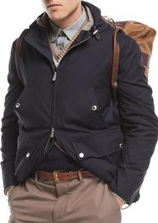 Brunello Cucinelli Technical Wool Utility Jacket