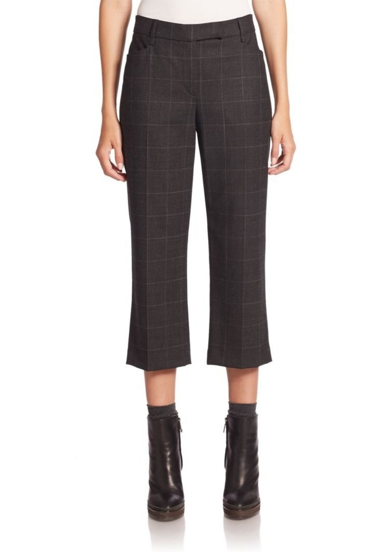 Brunello Cucinelli Textured Bootcut Cropped Pants