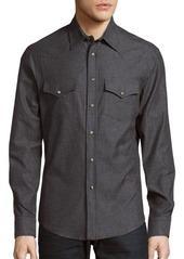 Brunello Cucinelli Textured Long-Sleeve Shirt