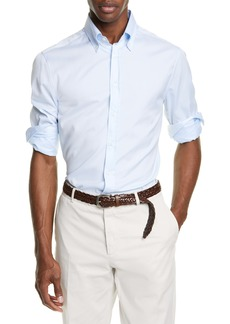 Brunello Cucinelli Slim Fit Button-Down Sport Shirt