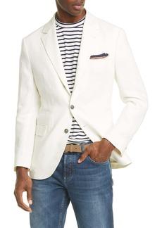 Brunello Cucinelli Trim Fit Solid Linen Sport Coat