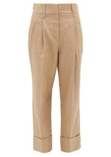 Brunello Cucinelli Turn-up cuff technical-twill trousers