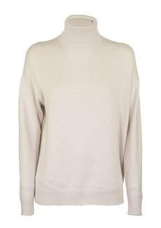 Brunello Cucinelli Turtleneck Sweater In Cashmere And Silk Vanilla