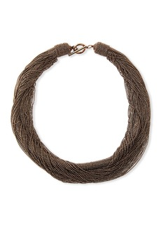 Brunello Cucinelli Twisted Monili Choker Necklace