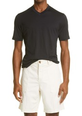 Brunello Cucinelli V-Neck Slim Fit Silk & Cotton T-Shirt