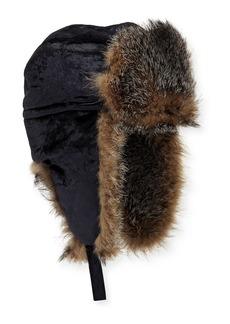 Brunello Cucinelli Velvet Hat w/ Fox Fur