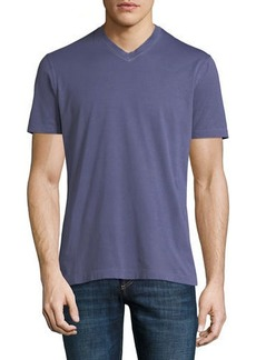 Brunello Cucinelli Washed Cotton V-Neck T-Shirt