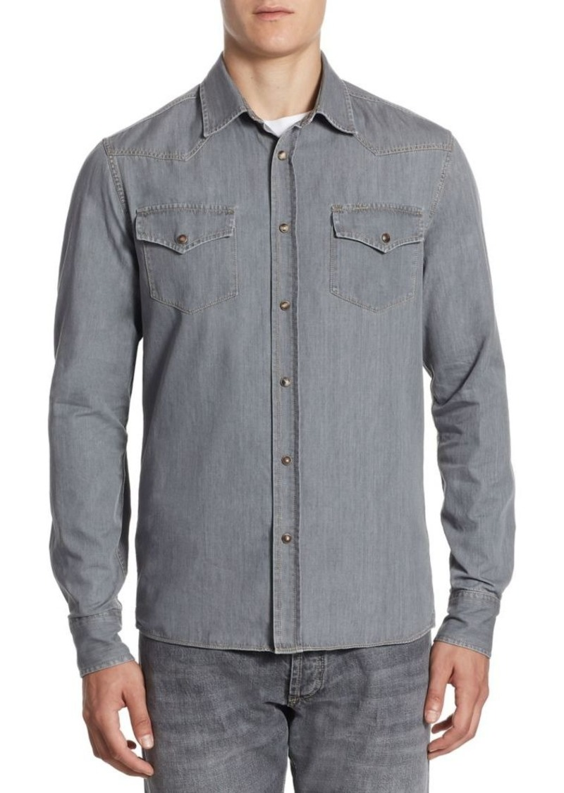 Brunello Cucinelli Slim-Fit Western Denim Shirt