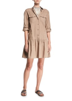 Brunello Cucinelli Western-Style Cotton Shirtdress