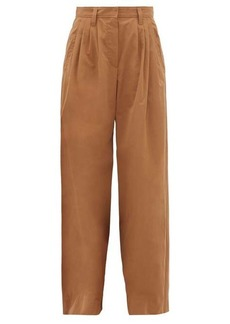 Brunello Cucinelli Wide-leg cotton-poplin trousers