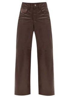 Brunello Cucinelli Wide-leg leather trousers