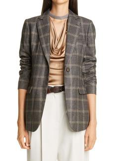 Brunello Cucinelli Windowpane Check Wool Jacket