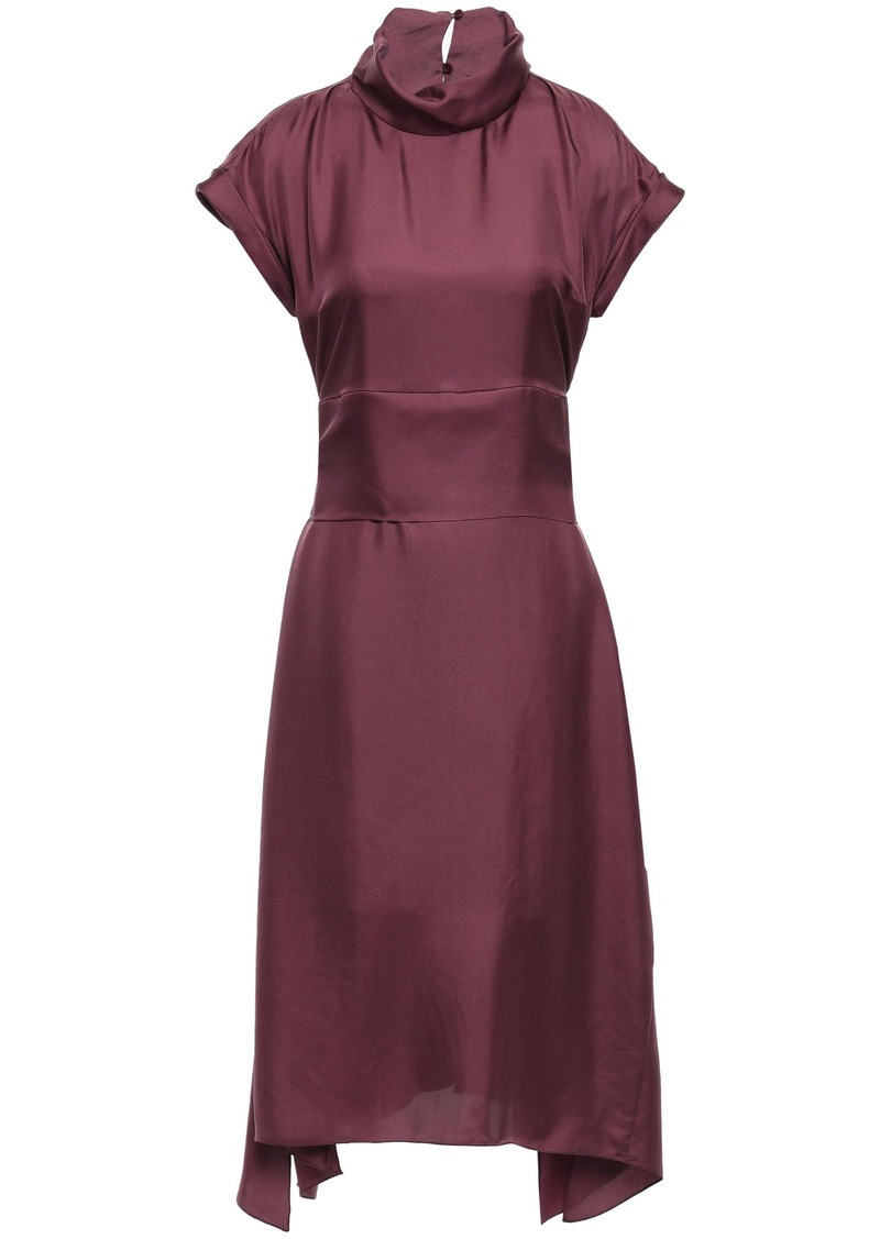 Brunello Cucinelli Woman Silk-satin Twill Dress Plum