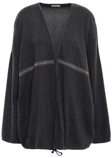 Brunello Cucinelli Woman Bead-embellished Cashmere Cardigan Black