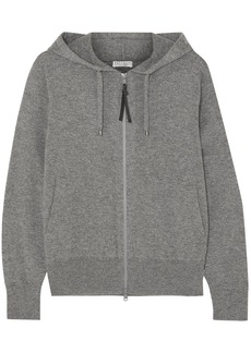Brunello Cucinelli Woman Bead-embellished Cashmere Hoodie Gray