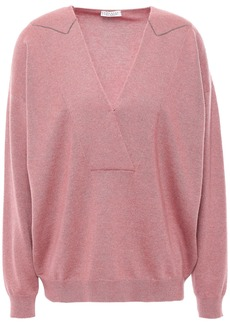 Brunello Cucinelli Woman Bead-embellished Cashmere Sweater Antique Rose