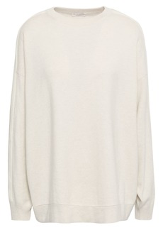 Brunello Cucinelli Woman Bead-embellished Cashmere Sweater Off-white