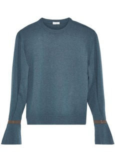 Brunello Cucinelli Woman Bead-embellished Cashmere Sweater Petrol