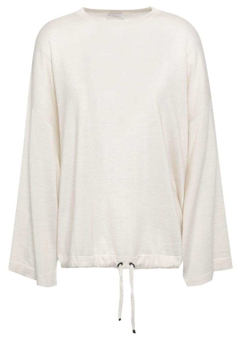Brunello Cucinelli Woman Cashmere And Silk-blend Sweater Ecru