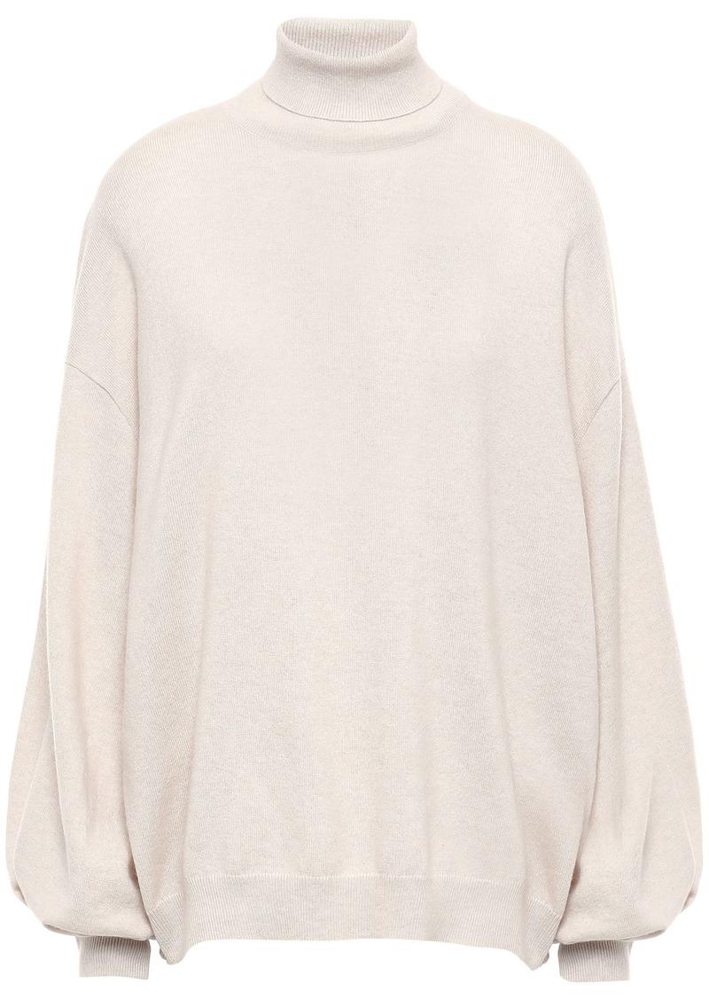 Brunello Cucinelli Woman Cashmere Turtleneck Sweater Ecru