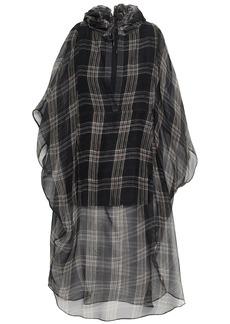Brunello Cucinelli Woman Checked Silk-chiffon Hooded Tunic Black