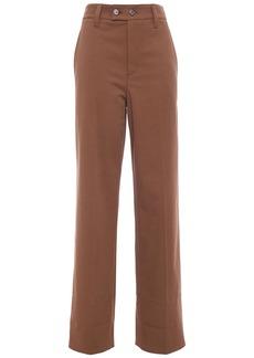 Brunello Cucinelli Woman Cotton-blend Twill Straight-leg Pants Brown