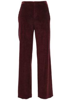Brunello Cucinelli Woman Cotton-corduroy Wide-leg Pants Merlot