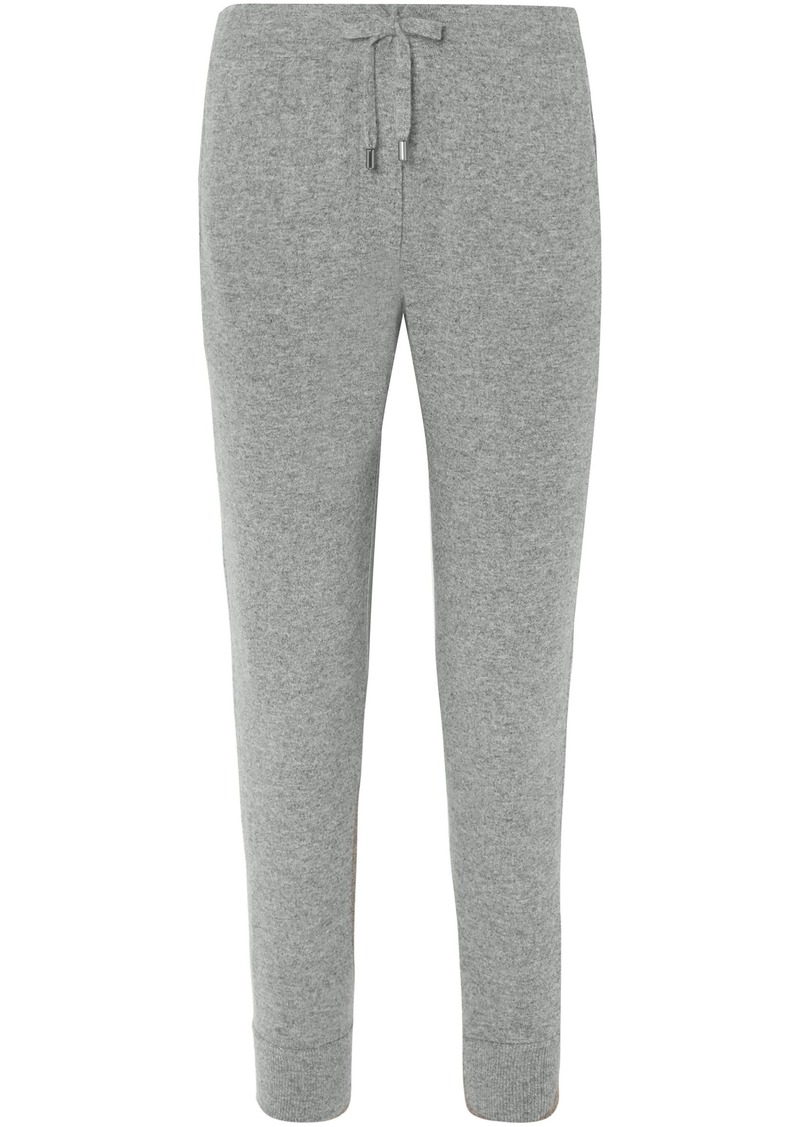 Brunello Cucinelli Woman Cropped Cashmere Track Pants Gray
