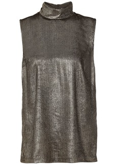 Brunello Cucinelli Woman Devoré-velvet Top Gold