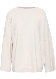 Brunello Cucinelli Woman Gathered Cashmere Sweater Ecru