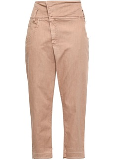 Brunello Cucinelli Woman High-rise Tapered Jeans Antique Rose