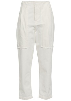 Brunello Cucinelli Woman High-rise Tapered Jeans White
