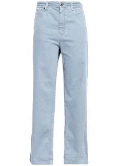 Brunello Cucinelli Woman High-rise Wide-leg Jeans Sky Blue