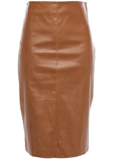 Brunello Cucinelli Woman Leather Pencil Skirt Light Brown
