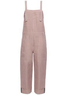 Brunello Cucinelli Woman Linen-blend Twill Jumpsuit Pastel Pink
