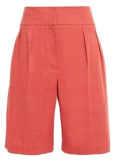 Brunello Cucinelli Woman Linen-blend Twill Shorts Orange