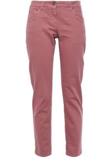 Brunello Cucinelli Woman Low-rise Slim-leg Jeans Antique Rose