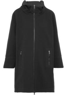 Brunello Cucinelli Woman Reversible Beaded Jersey Hooded Jacket Black