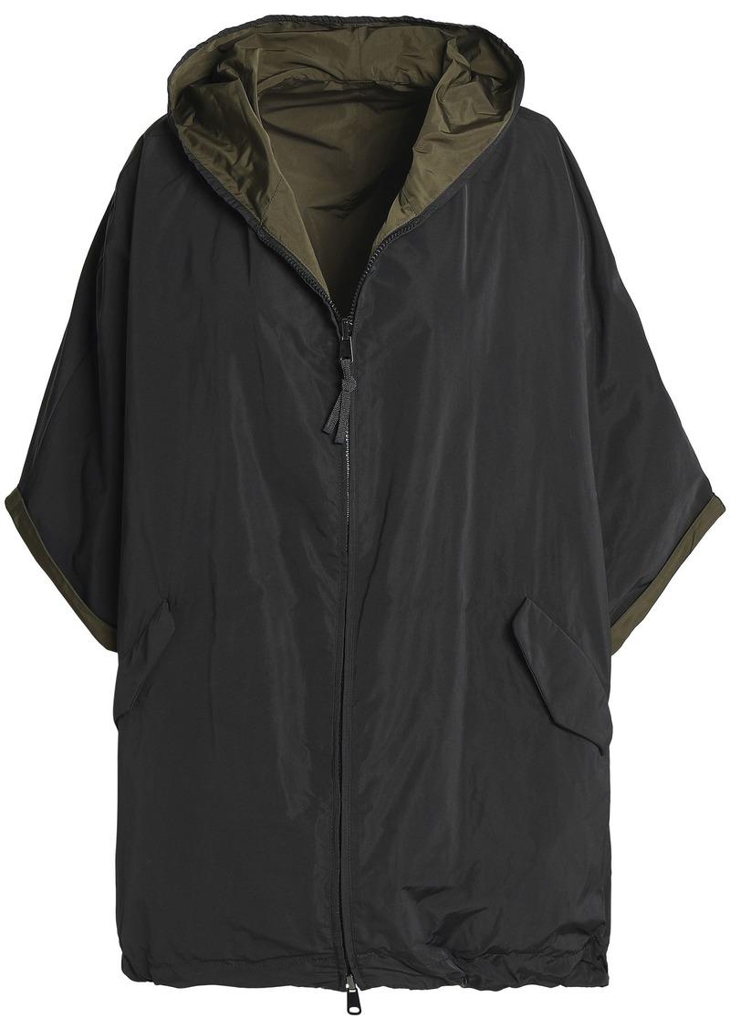 Brunello Cucinelli Woman Reversible Shell Hooded Jacket Black
